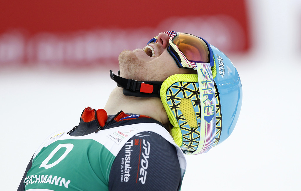 . SCHLADMING, AUSTRIA - FEBRUARY 15: (FRANCE OUT) Ted Ligety of the USA wins the gold medal during the Audi FIS Alpine Ski World Championships Men\'s Giant slalom on February 15, 2013 in Schladming, Austria. (Photo by Alexis Boichard/Agence Zoom/Getty Images)