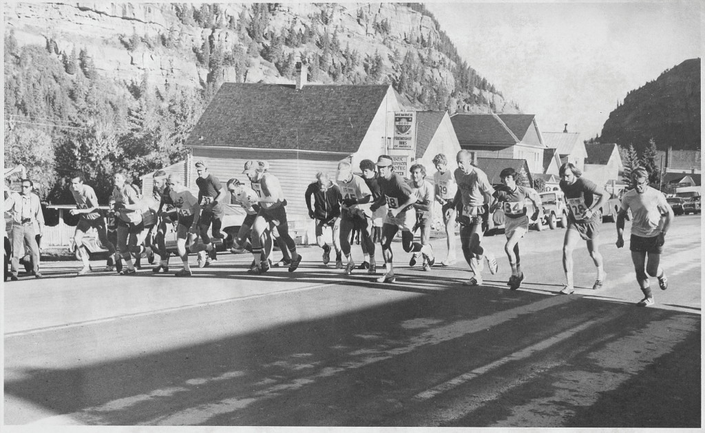 . Rick Trujillo 1976b-- Starting Line of the Imogene Pass Run at Ouray, 12Sep1976_1 Photo provided by Rick Trujillo