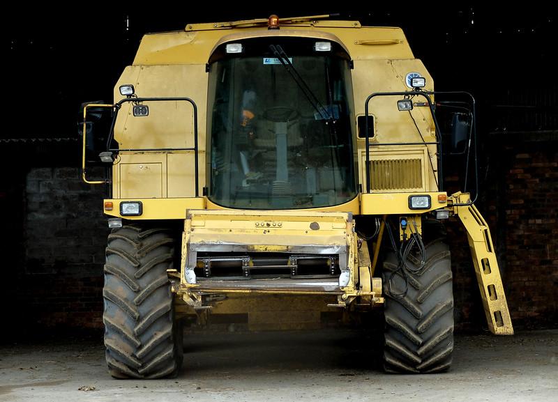 New Holland combine harvester.  12/07/14
