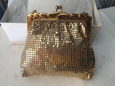gold mesh purse