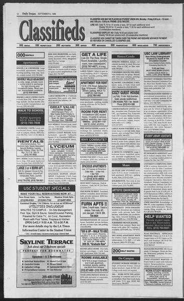 Daily Trojan, Vol. 129, No. 6, September 06, 1996