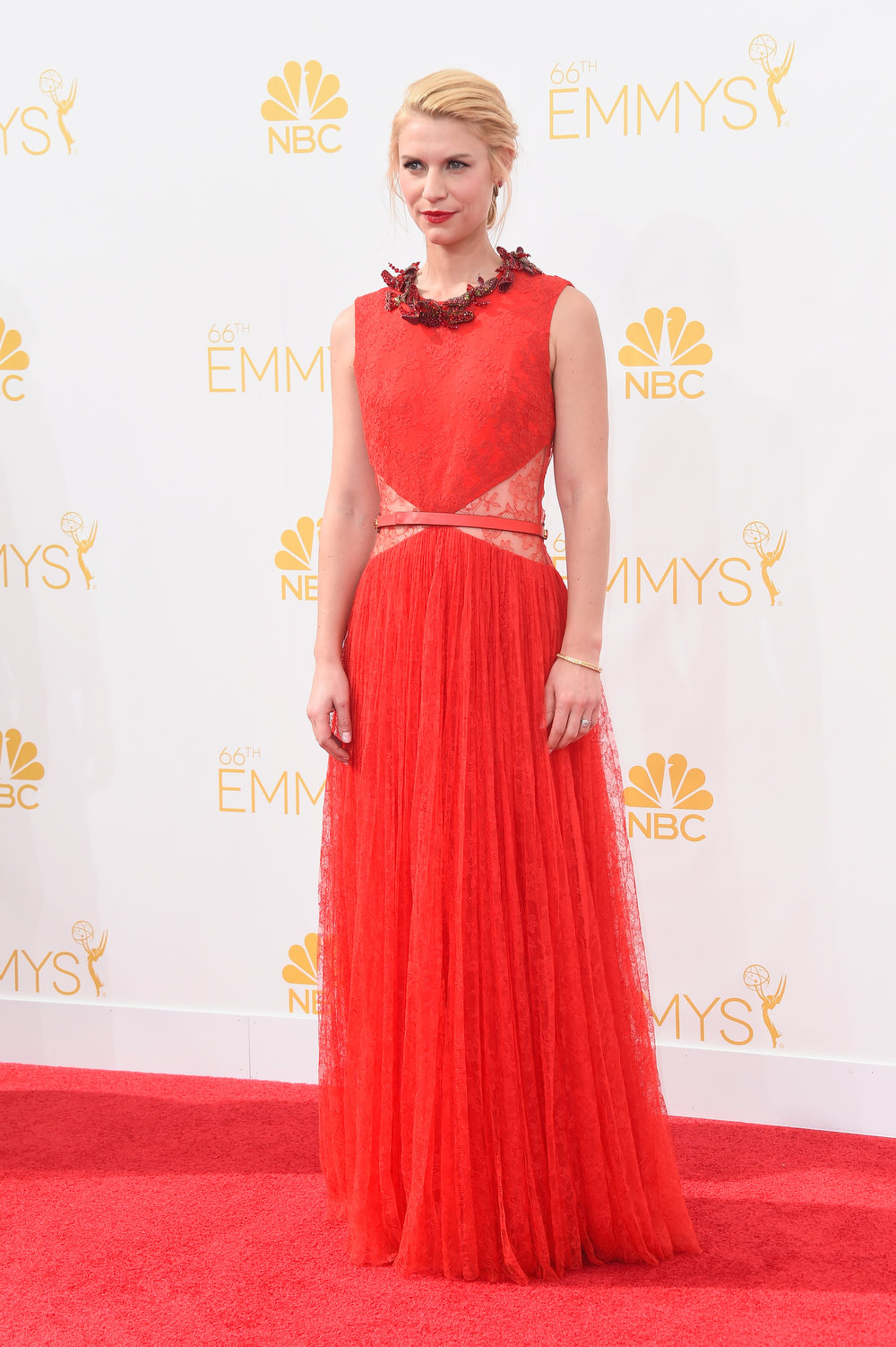 . Actress Claire Danes attends the 66th Annual Primetime Emmy Awards held at Nokia Theatre L.A. Live on August 25, 2014 in Los Angeles, California.  (Photo by Frazer Harrison/Getty Images)