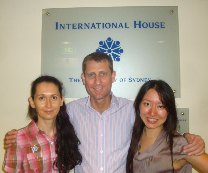 Sy (right) and Kathy (left) also organised for me to present to the Orientation Week students at International House.