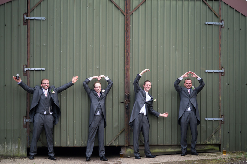 Groom, best man and ushers