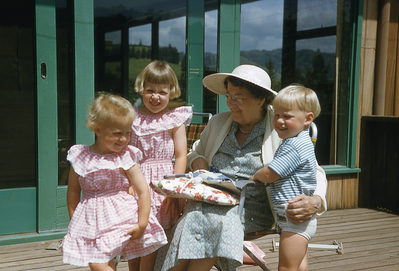 Kids and Grandma Robinson 1957