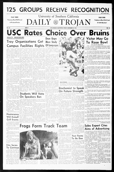 Daily Trojan, Vol. 55, No. 44, November 22, 1963