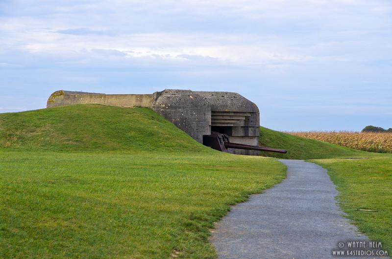 German Bunker in Normandy    Photography by Wayne Heim
