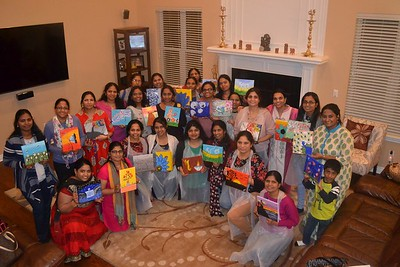 NRIVA Detroit _2019_Painting event by Women Committee