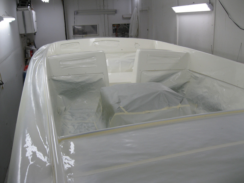 Rear port view with inside painted.
