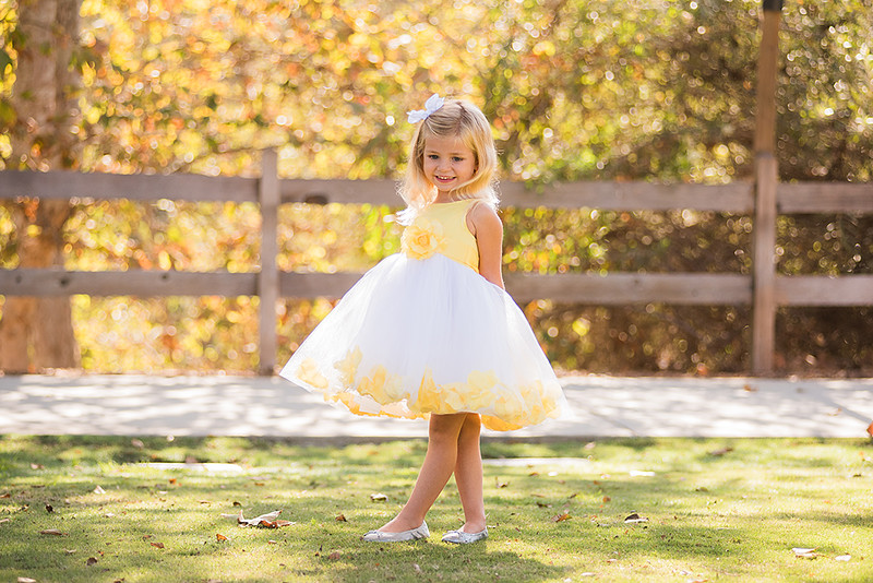 Little Girl Modeling Flower Girl Dress