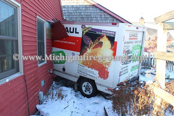 1/17/18 - Leroy Twp truck vs house, Howell & Kendrick