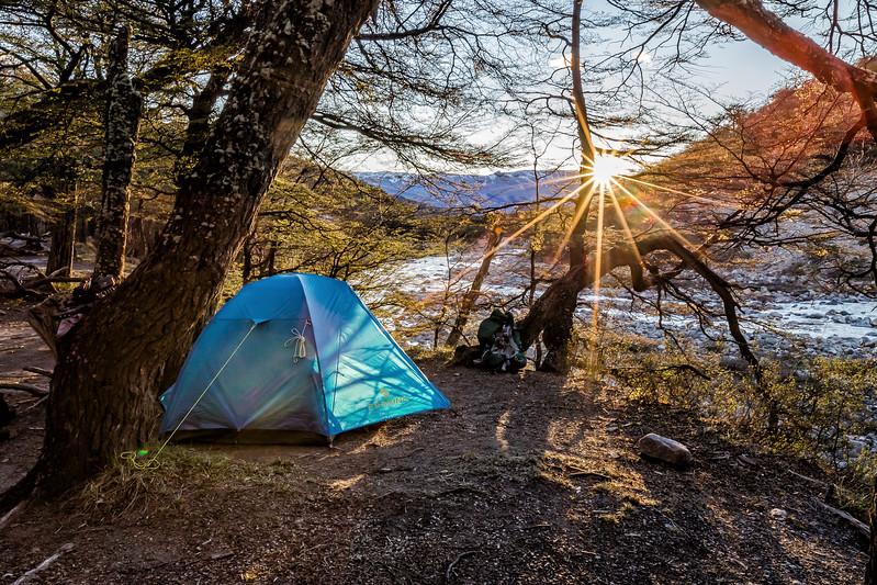 Tent camp in Patagonia