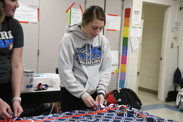Adopt-A-Family Tie Blankets