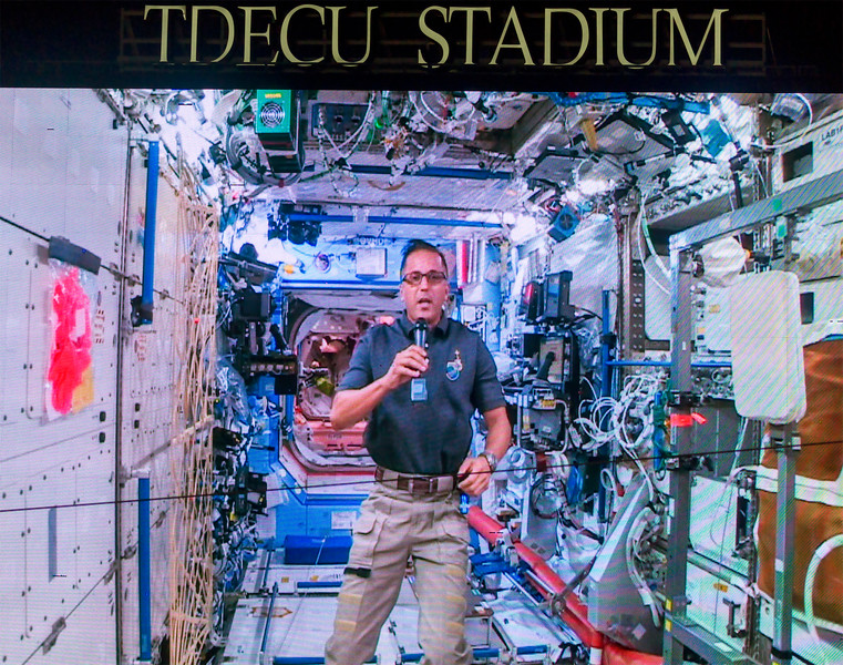 Astronaut Joseph Acaba greets us from the Space Station.