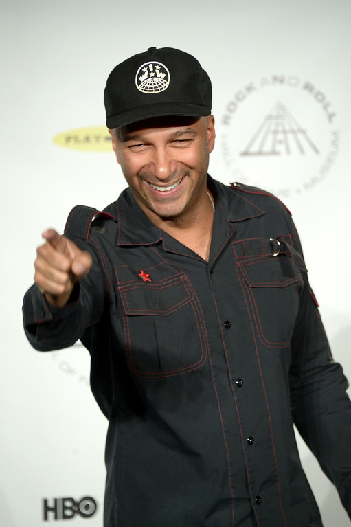. Musician Tom Morello attends the 29th Annual Rock And Roll Hall Of Fame Induction Ceremony at Barclays Center of Brooklyn on April 10, 2014 in New York City.  (Photo by Michael Loccisano/Getty Images)