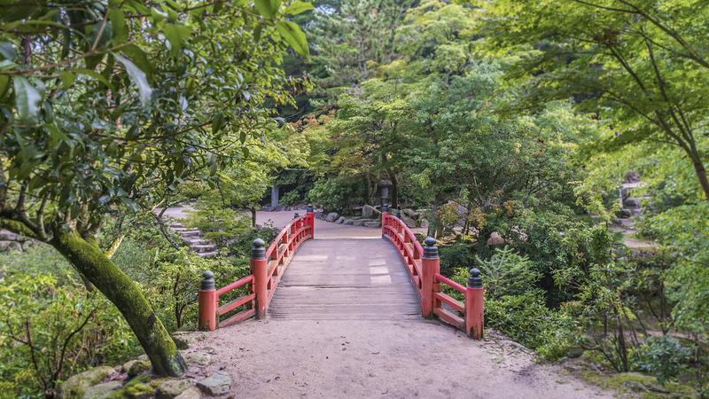 Momiji-dani Park on Miyajima island