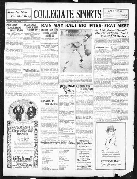 The Southern California Trojan, Vol. 16, No. 49, February 13, 1925