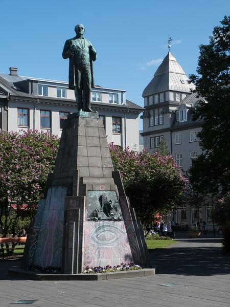 Austurvöllur Square. Reykjavik