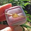 1.91ct Rustic Rose Cut Diamond Bangle in Yellow Gold 1