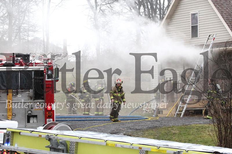 Chicora house fire. Seb Foltz/Butler Eagle 01/24/20