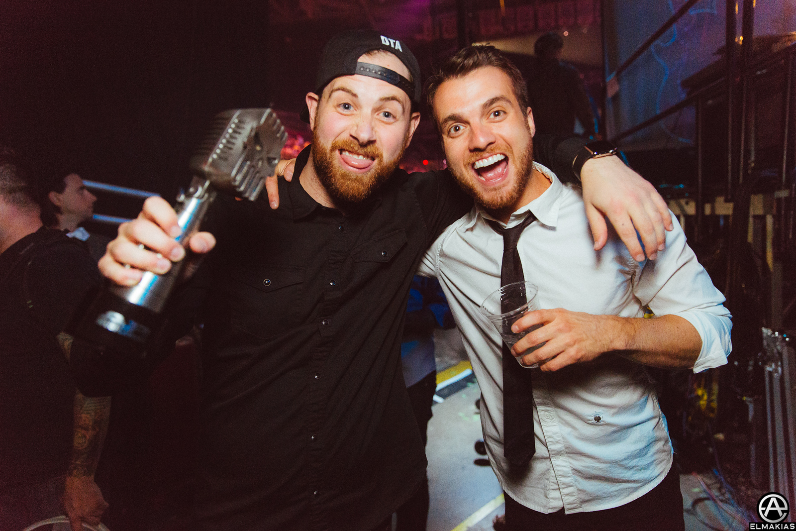 Kevin Skaff of A Day To Remember and Rian Dawson of All Time Low at the APMAs 2015 by Adam Elmakias
