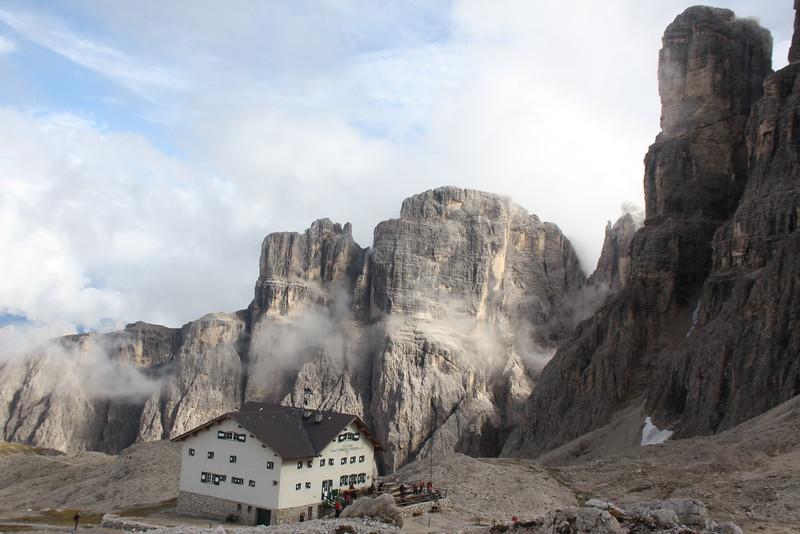 At the Top of Via Ferrata Brigata Tridentina