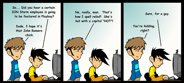 This is an old Penny Arcade from 1998