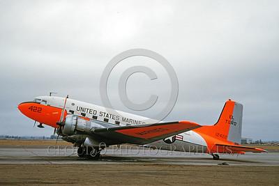 U.S. Marine Corps Douglas C-117 Skytrain Day-Glow Color Scheme Military Airplane Pictures