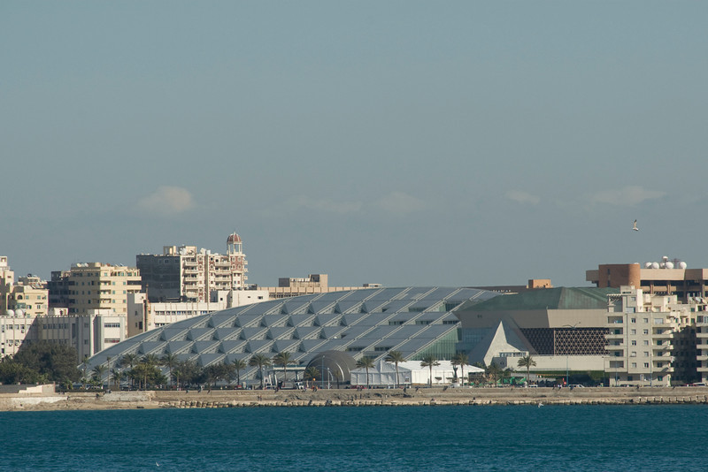 View of the Alexanderia Library from Harbor  - Alexander, Egypt
