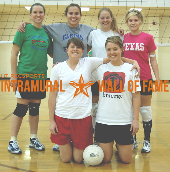 VOLLEYBALL Women's B Runner-Up  SMACK THAT!  R1: Jennifer Penny, Rachel Isenhower   R2:  Bethany Fleming, Katie Drilling, Richelle Raquet,  Andrea Belcher  Not Pictured:  Rachel McDaniel