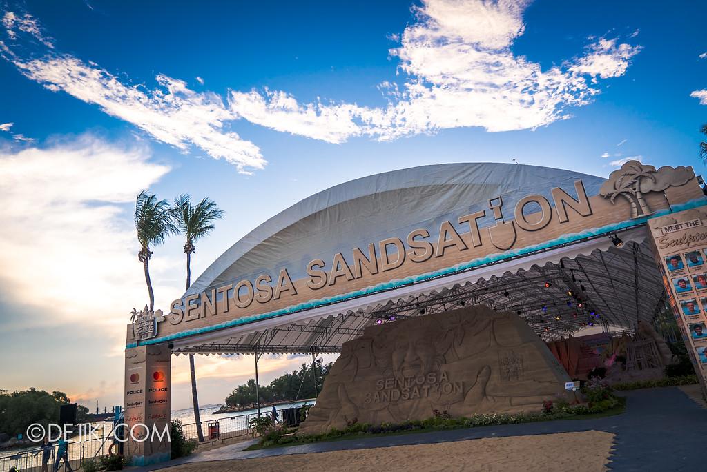 Sentosa Sandsation 2017 - entrance