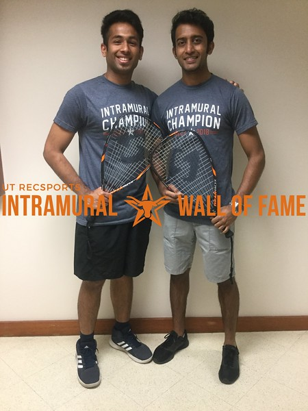 Spring 2018 Racquetball Men's A Doubles Champion