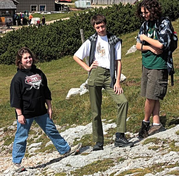 Steven with friends Schneeberg, summer 2008 Orli and Dov