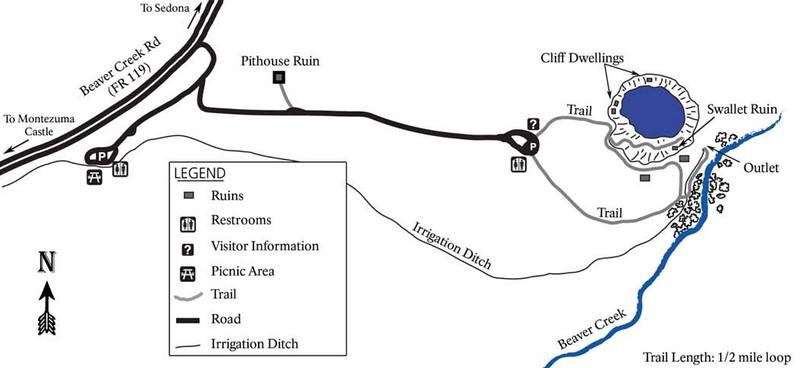 Montezuma Castle National Monument (Trail Map)
