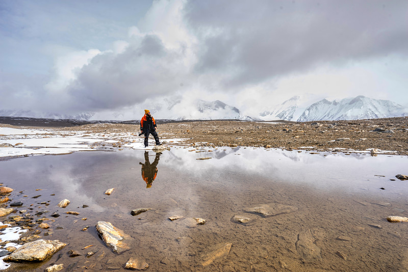 Stu Robertson in Antarctica