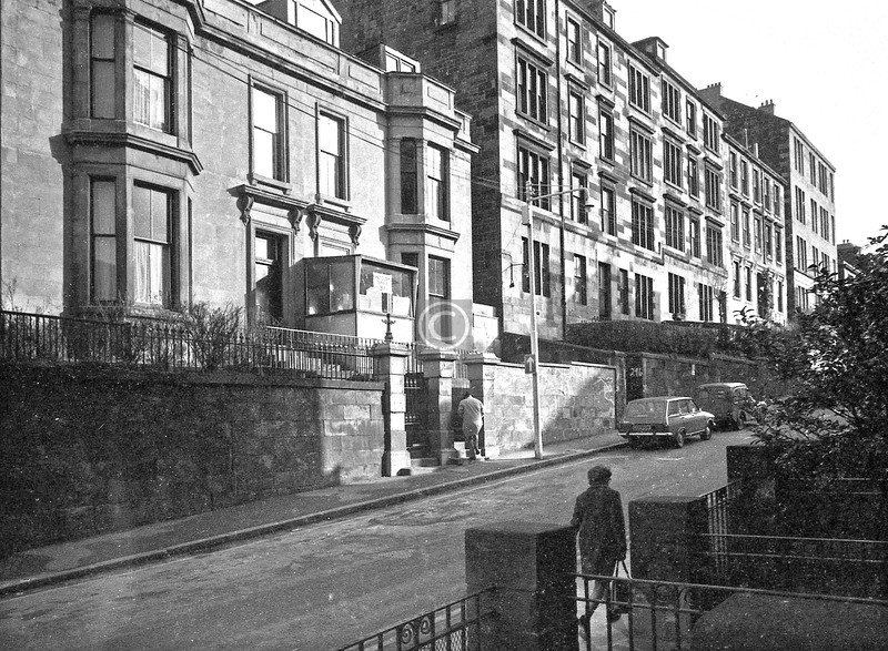 Renfrew St., north side at the western end.  February 1976
