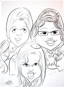 2013 06 06:  H.S. Grad Party Sketch, Federica
