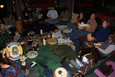 Drum Circle, Stonehedge Gardens, South Tamaqua (12-21-2012)