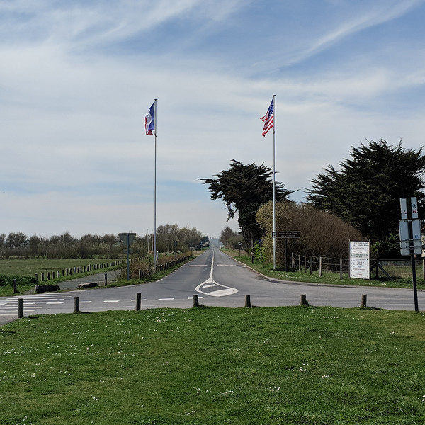 One of the few roads for troops to exit beaches