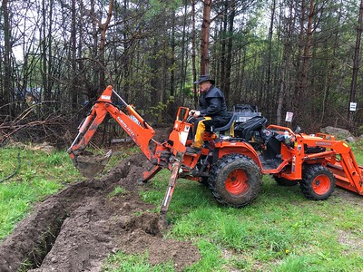 Hydro Trench Dig at Huronia Handgun Club