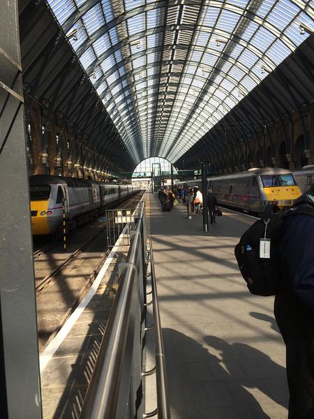 Taking the train from London to Edinburgh, Scotland