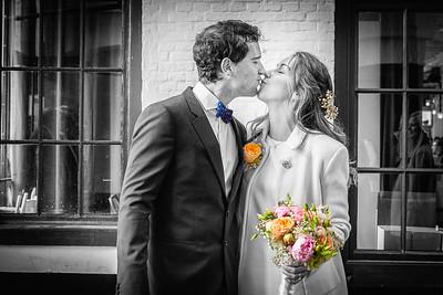 Burgelijke trouw: Felix Pakhuis - MAS Zwart-Wit foto's