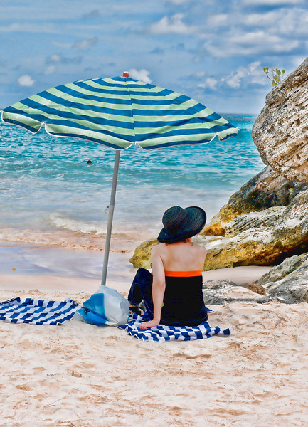 A day at the beach in Bermuda.  NOTE: model release available