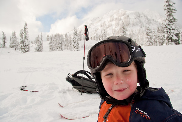 Lillie and Cade ski Mt. Baker, Dec. 2008