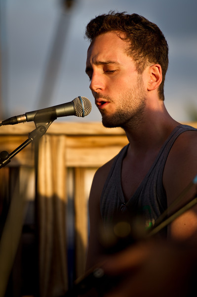 François Comtois of Young The Giant performs an acoustic set on December 3, 2011 during 97X Next Big Thing at 1-800-ASK-GARY Amphitheatre in Tampa, Florida