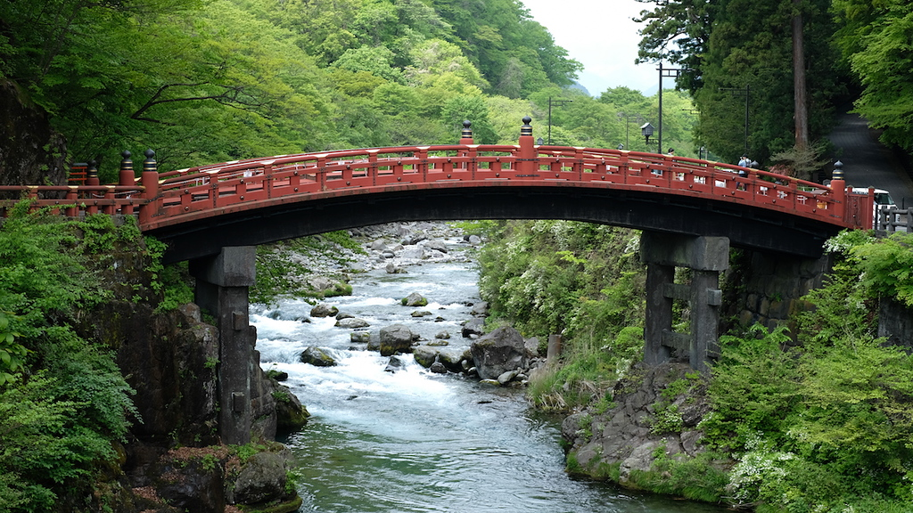 Shinkyo Bridge, which is part of Futarasan Shrine.