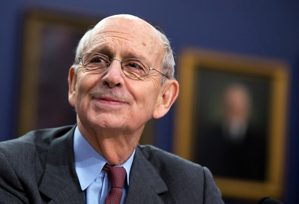 . FILE - In this March 23, 2015 file photo, Supreme Court Associate Justice Stephen Breyer testifies on Capitol Hill in Washington. Breyer received around $120,000 last year from the publisher of his latest book about the high court and the world.  (AP Photo/Manuel Balce Ceneta, File)