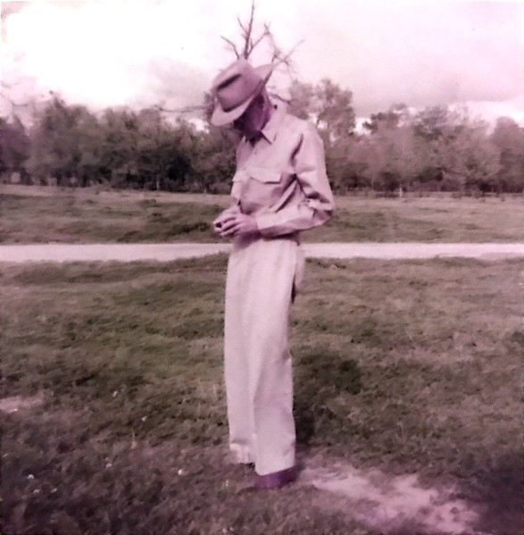 """Grandpaw's grandfather? Bob Samuell. Caption on photo said """"Daddy's last easter hunt. Victoria Bend on Mississippi River"""""""