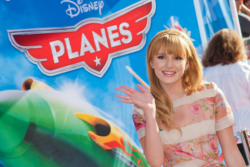 HOLLYWOOD, CA - AUGUST 05: Actress Bella Thorne arrives at the Los Angeles premiere of 'Planes' at the El Capitan Theatre on Monday August 5, 2013 in Hollywood, California. (Photo by Tom Sorensen/Moovieboy Pictures)
