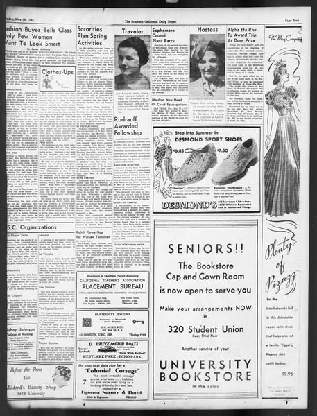 Daily Trojan, Vol. 29, No. 136, May 13, 1938